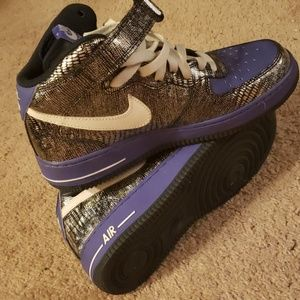 Purple and obsidian air force 1 high size 7.5